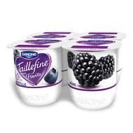 Taillefine saveur mûres - myrtilles 0%, Danone (4 x 125 g)