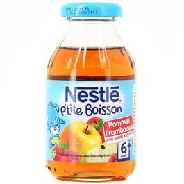 P'tite boisson pommes framboises - 6 mois, Nestlé (20 cl)