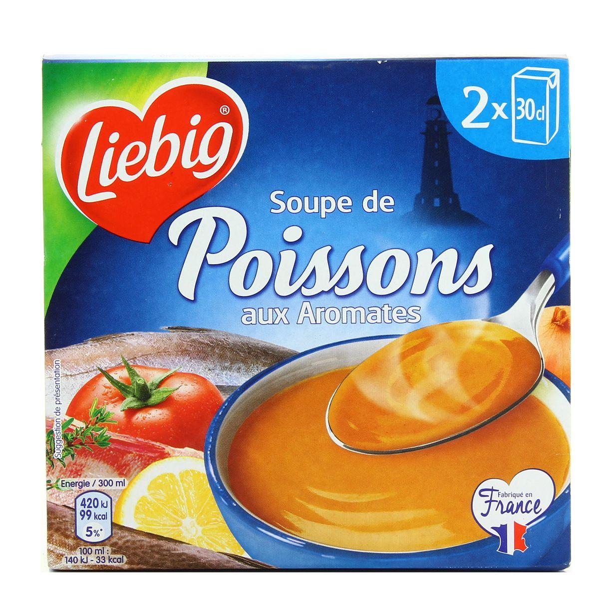 Soupe de poissons aux aromates, Liebig (2 x 30 cl)