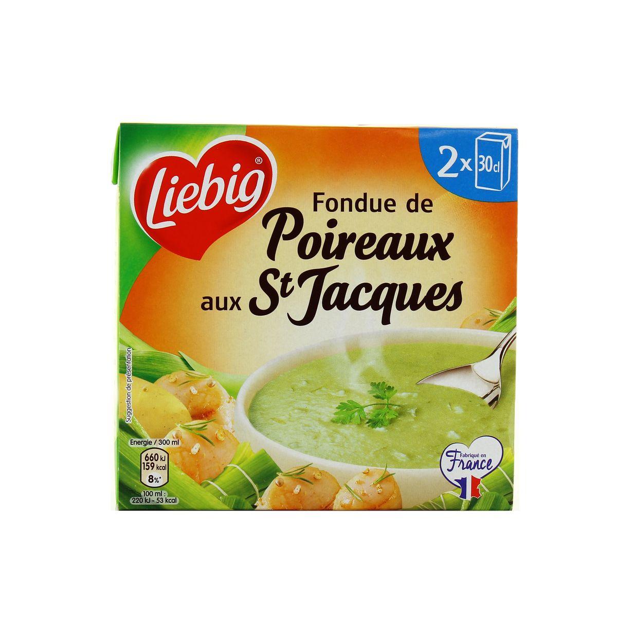 Soupe fondue de poireaux aux saint jacques, Liebig (2 x 30 cl)