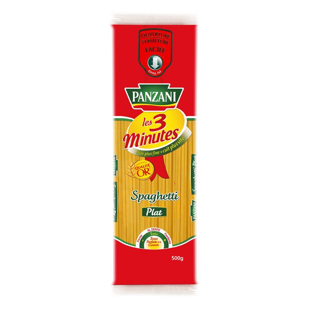 Spaghetti plat cuisson rapide 3 minutes, Panzani (500 g)