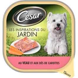 Terrine au veau pour chien, Cesar (300 g)