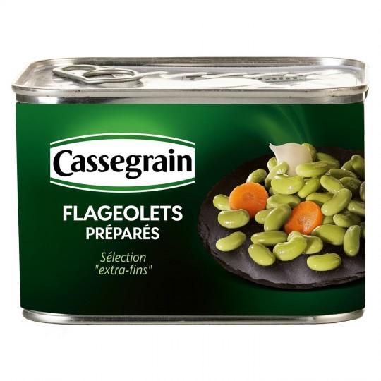 Flageolets cuisinés, Cassagrain (465 g)