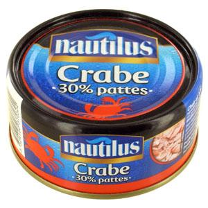Crabe morceaux et pattes, Nautilus (103 g)