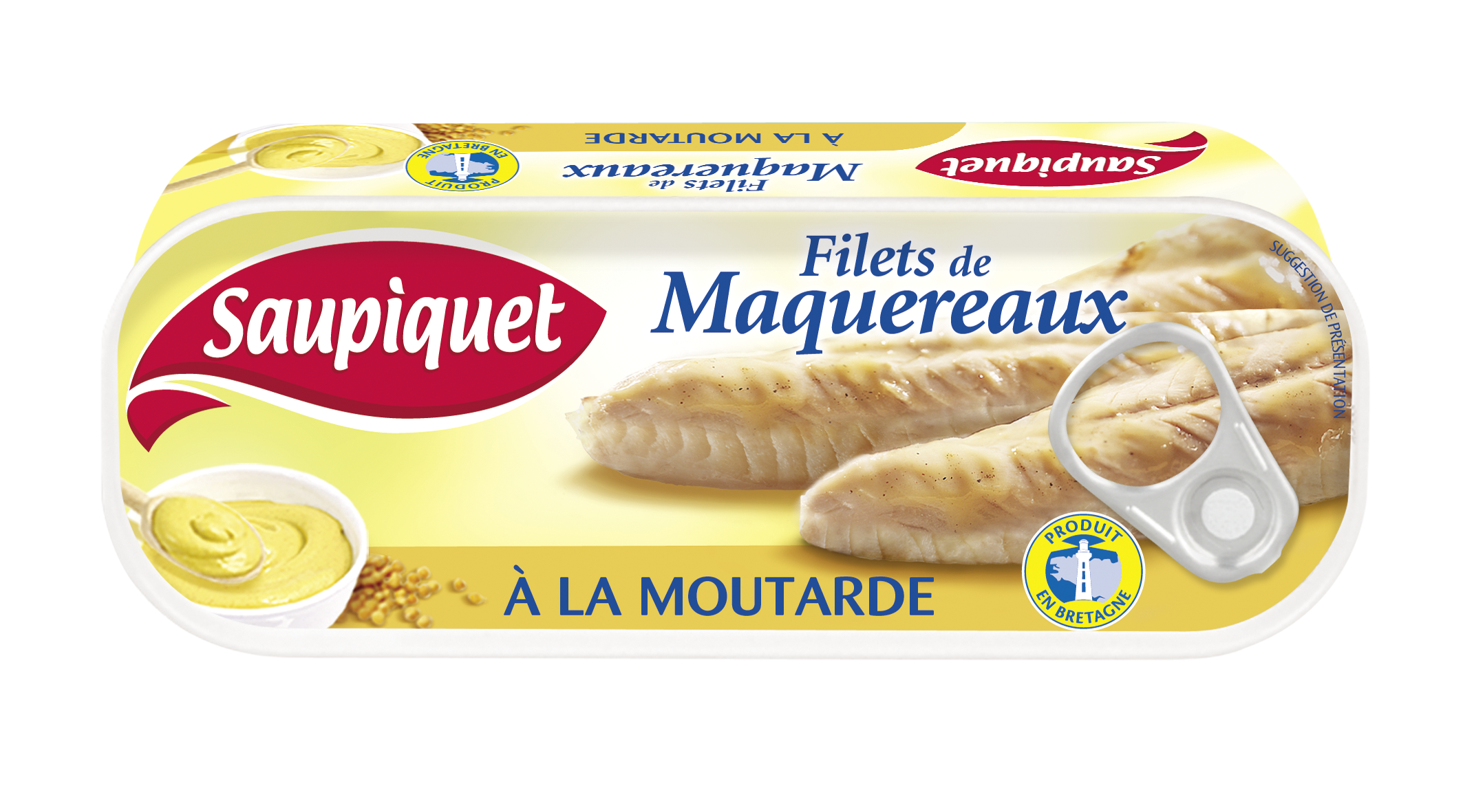 Filets de maquereaux à la moutarde en lot, Saupiquet (2 x 169 g)