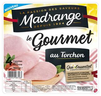 Jambon cuit au torchon le gourmet, Madrange (4 tranches, 160 g)