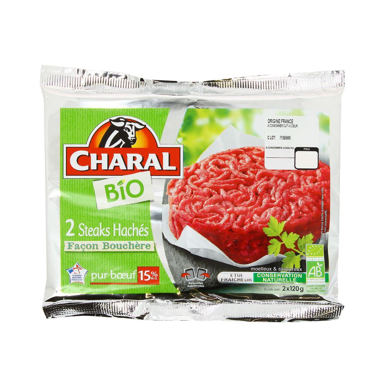 Steack haché façon bouchère 5% de MG BIO, Charal (2 x 150 g)