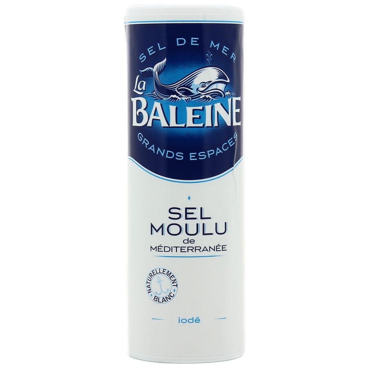 Sel moulu de mediterranée, La Baleine (250 g)