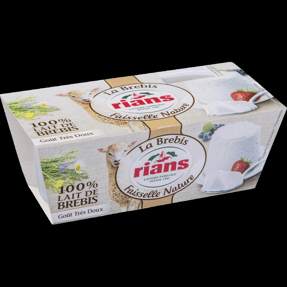 La Faisselle au lait de brebis pasteurisé, Rians (2 x 100g)