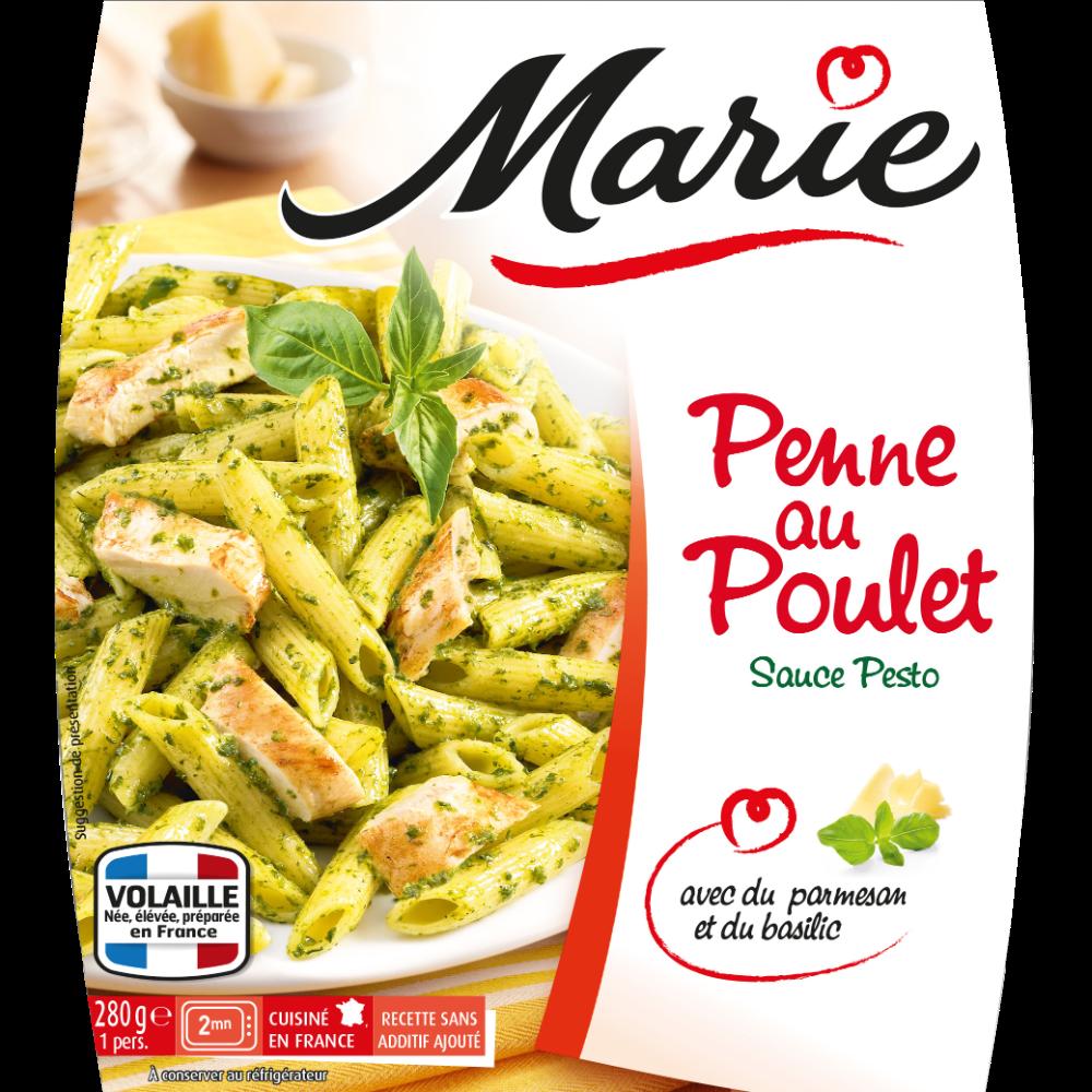 Penne au poulet grillé et au pesto, Marie (280 g)