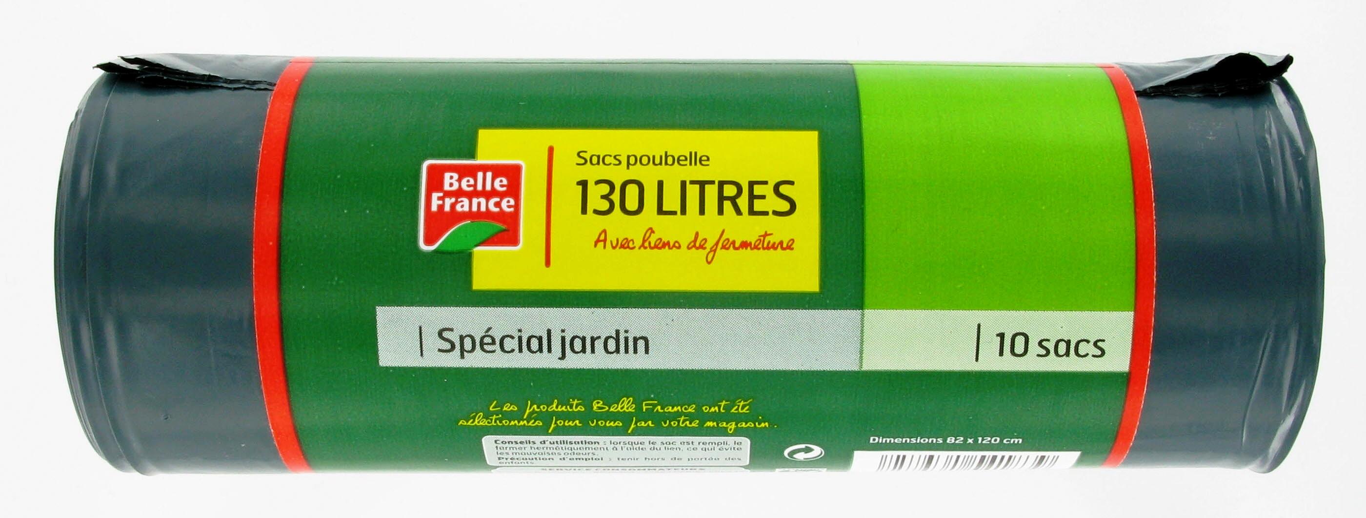 Sacs poubelle avec lien, Belle France (x 10, 130 L)
