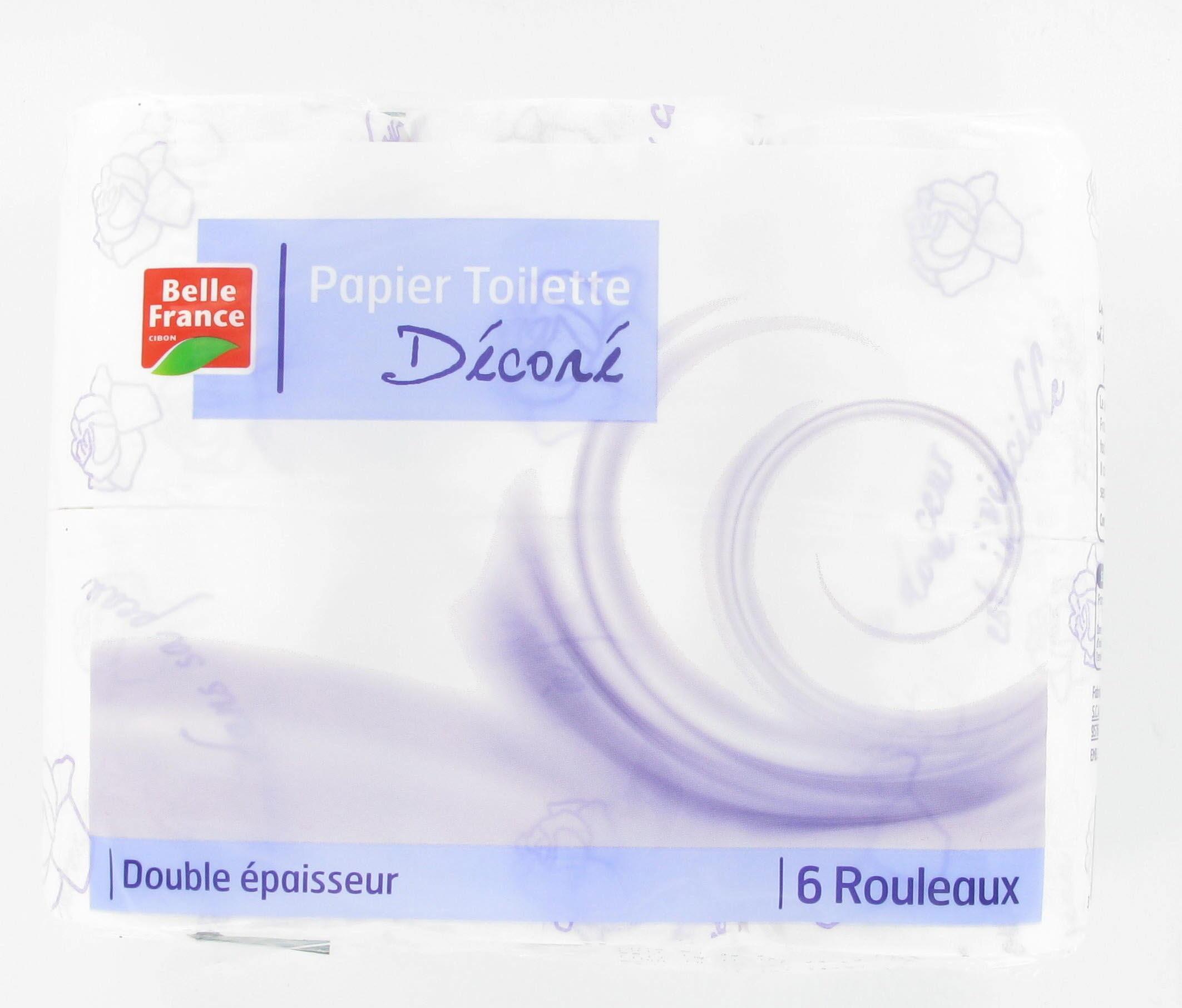 Papier toilette décoré, Belle France (x 6)