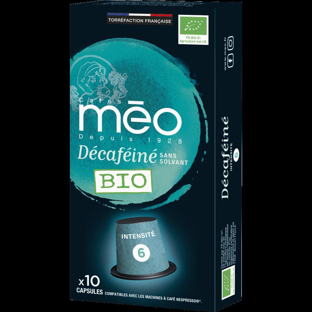 Café capsule décaféiné BIO, Méo (x 10)