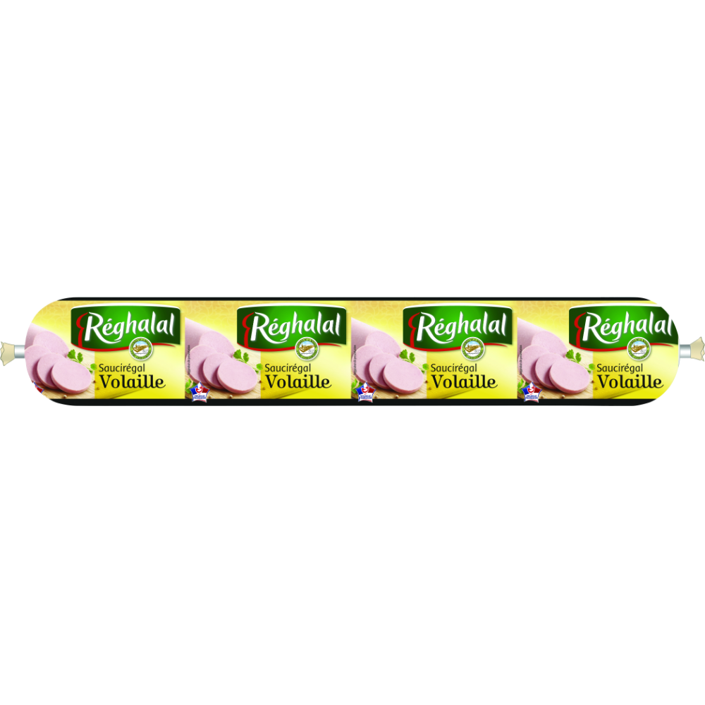 Saucisson de volaille nature halal, Reghalal (500g)