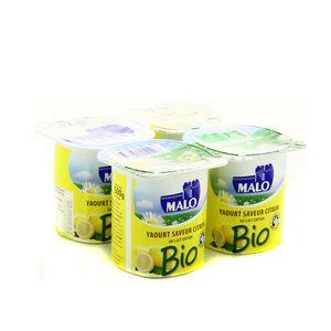 Yaourt au citron BIO, Malo (4 x125 g)