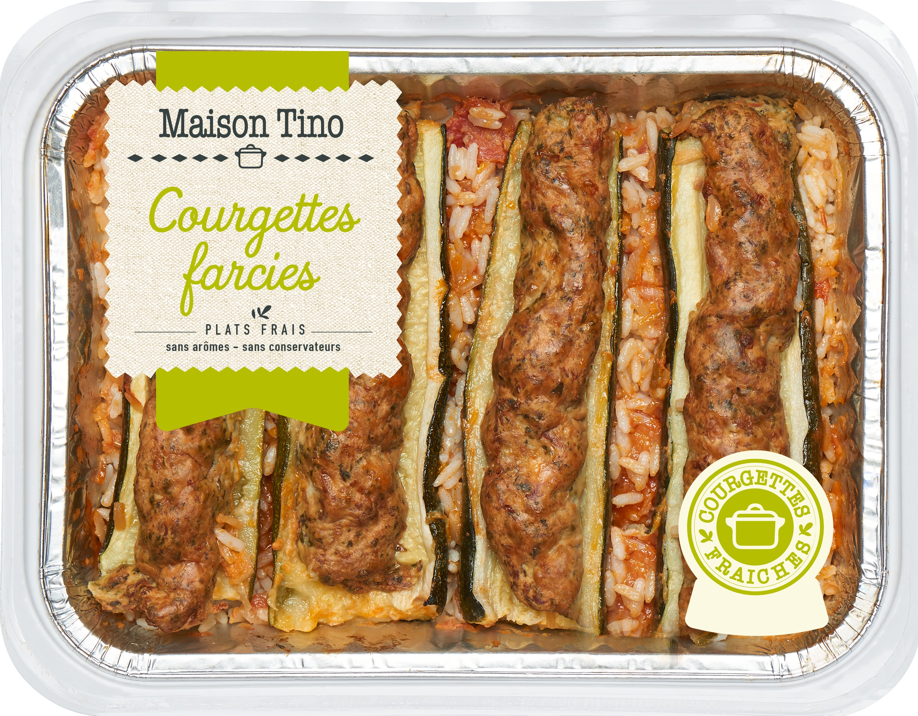 Courgettes Farcies, Maison Tino (800 g)