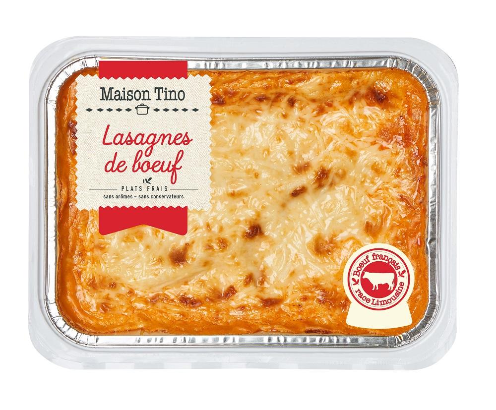 Lasagnes de Boeuf race Limousine, Maison Tino (900 g)