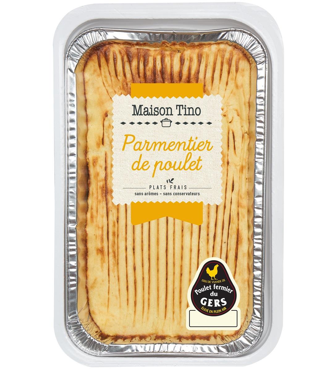 Parmentier de Poulet du Gers aux champignons et à la crème, Maison Tino (750 g)