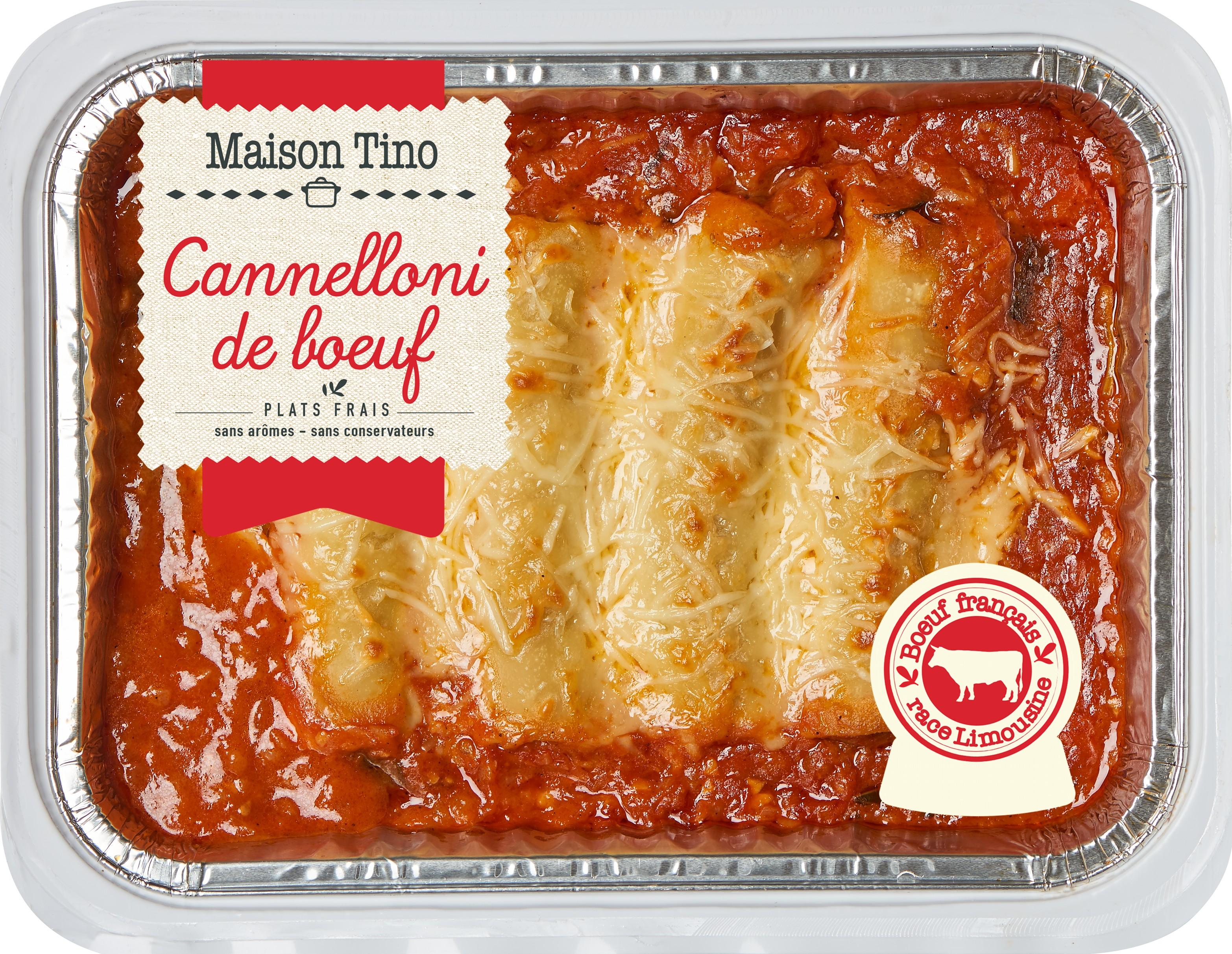 Cannelloni de boeuf race Limousine, Maison Tino (750 g)