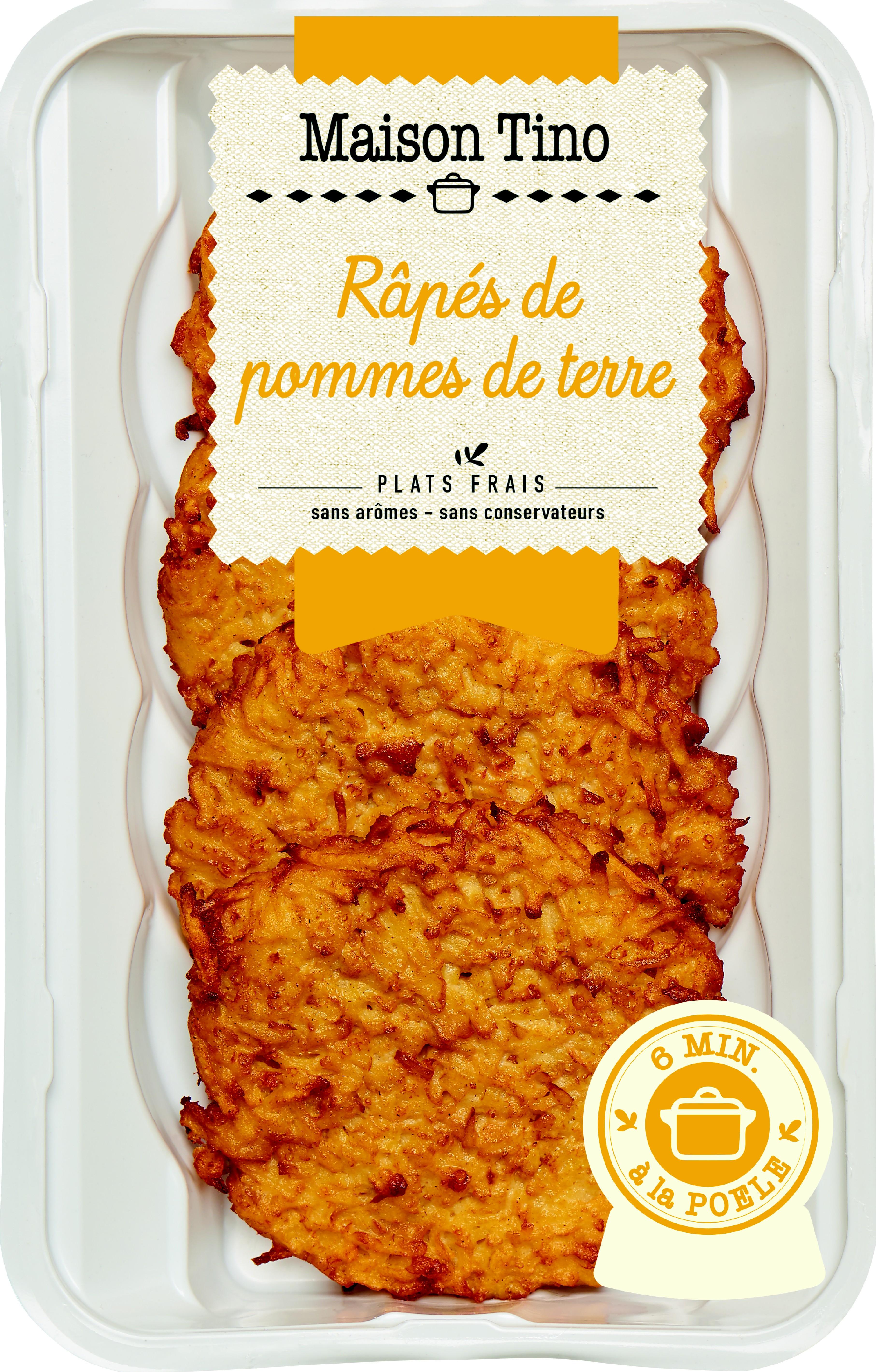 Râpés de Pommes de terre, Maison Tino (4 x 110 g)