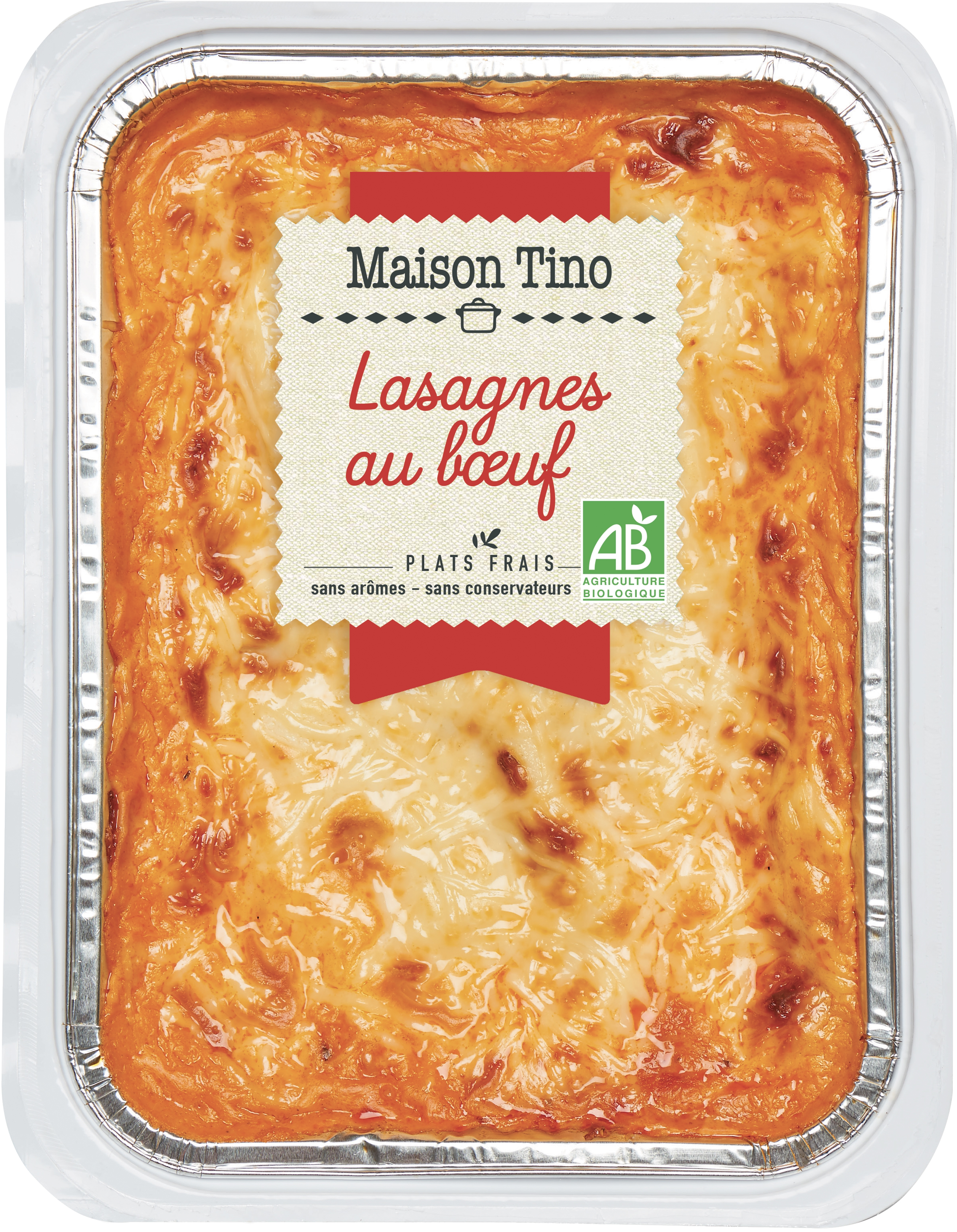 Lasagnes au boeuf BIO, Maison Tino (550 g)