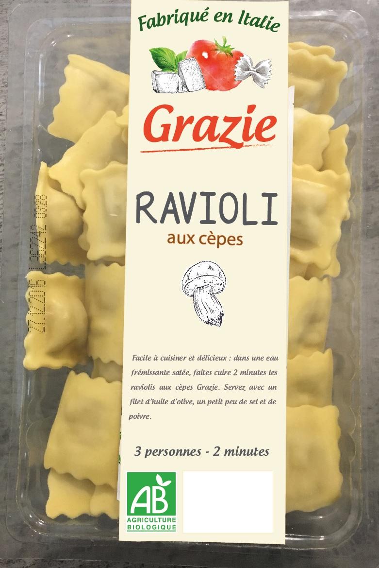 Ravioli aux Cèpes BIO, Grazie (250 g)