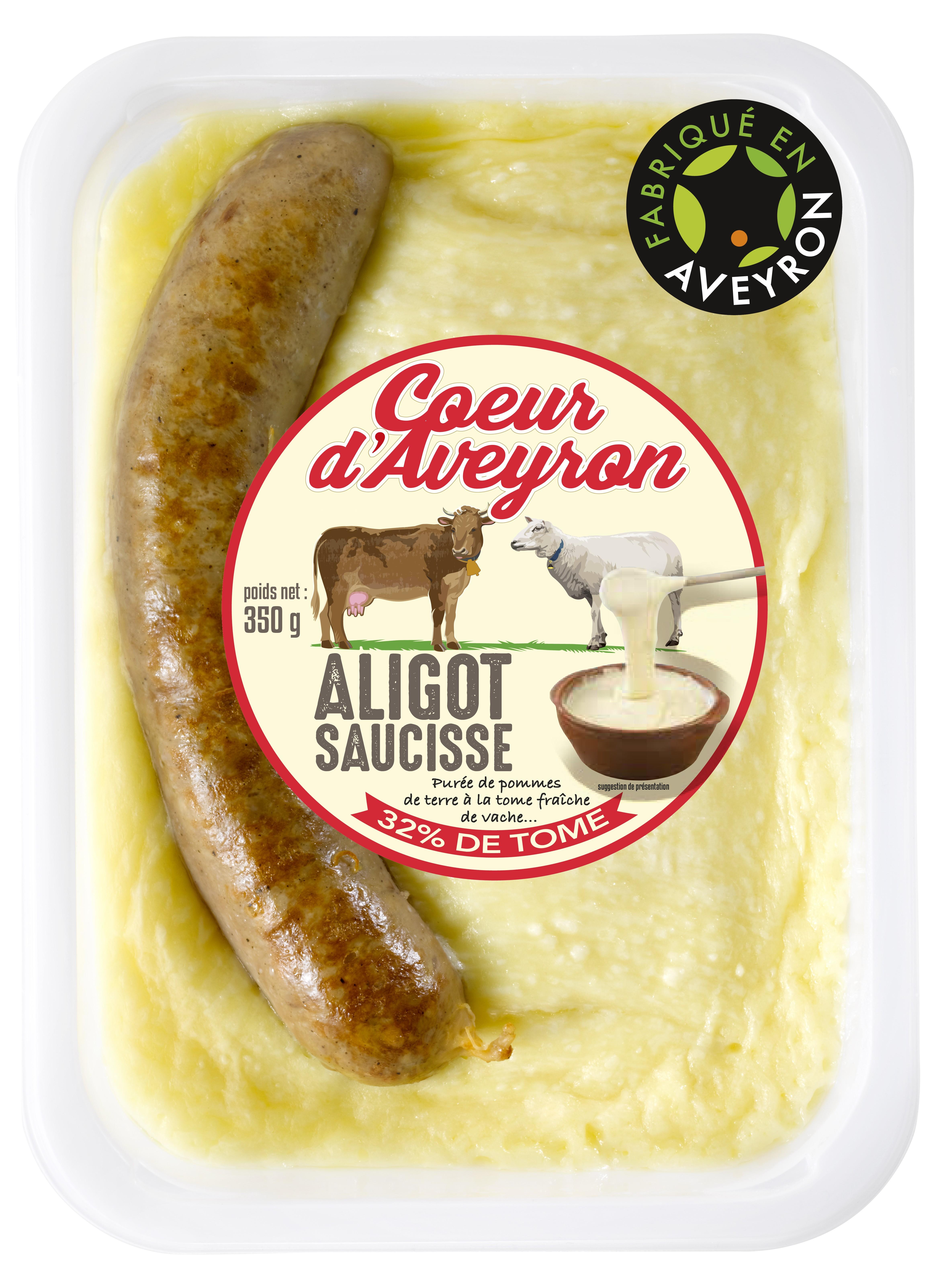 Aligot Saucisse, Coeur d'Aveyron (350 g)