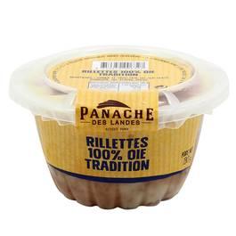 Rillettes 100% d'oie Tradition, Panache des Landes (130 g)