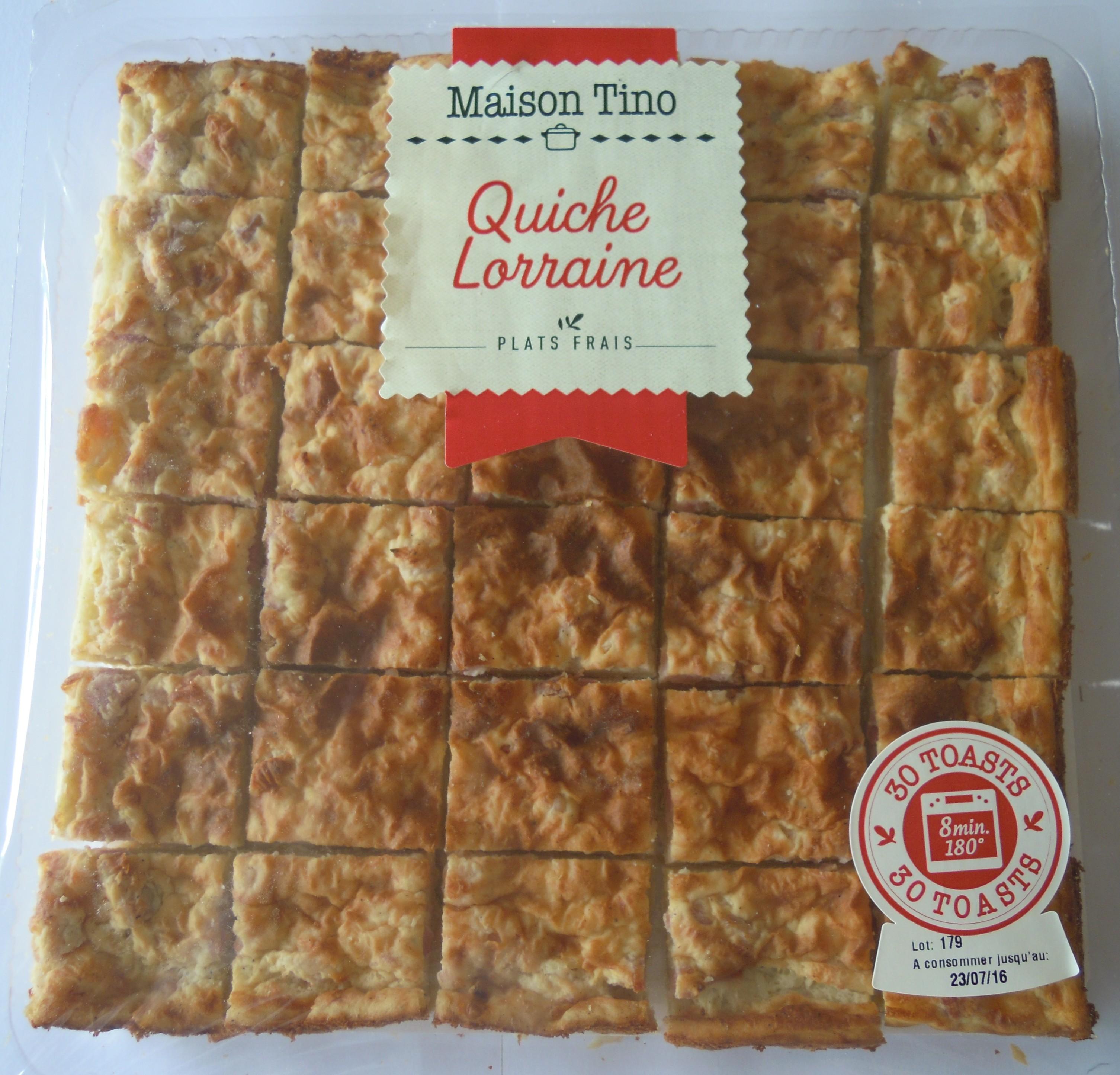 Quiche Lorraine, Maison Tino (x 30 toasts, 420 g)