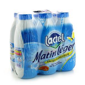 Pack de lait Matin Léger, Lactel (6 x 1 L)