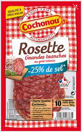 Grandes tranches de Rosette -25% de sel, Cochonou (100 g)