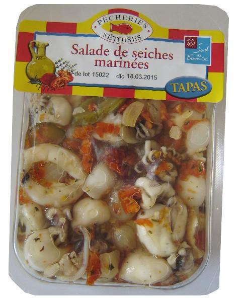 Salade de seiches, Pêcheries Sétoises (150 g)