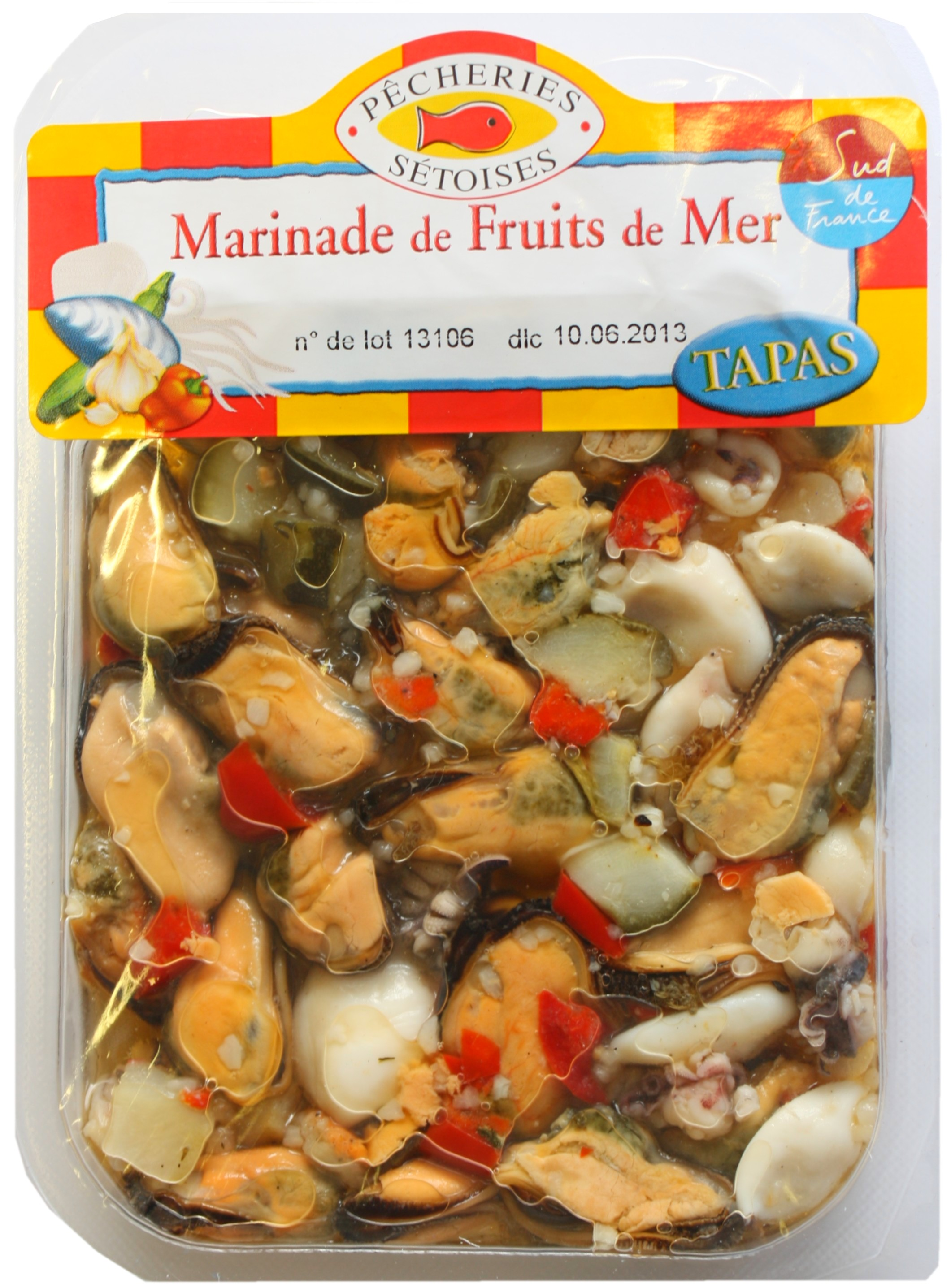 Salade marinade de fruits de mer, Pêcheries Sétoises (150 g)