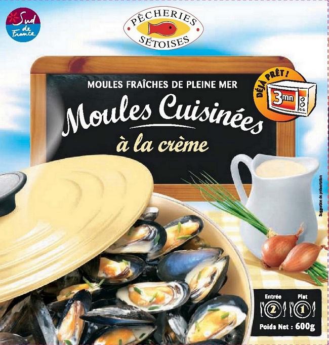 Moules à la crème, Pêcherie Sétoise (600 g)