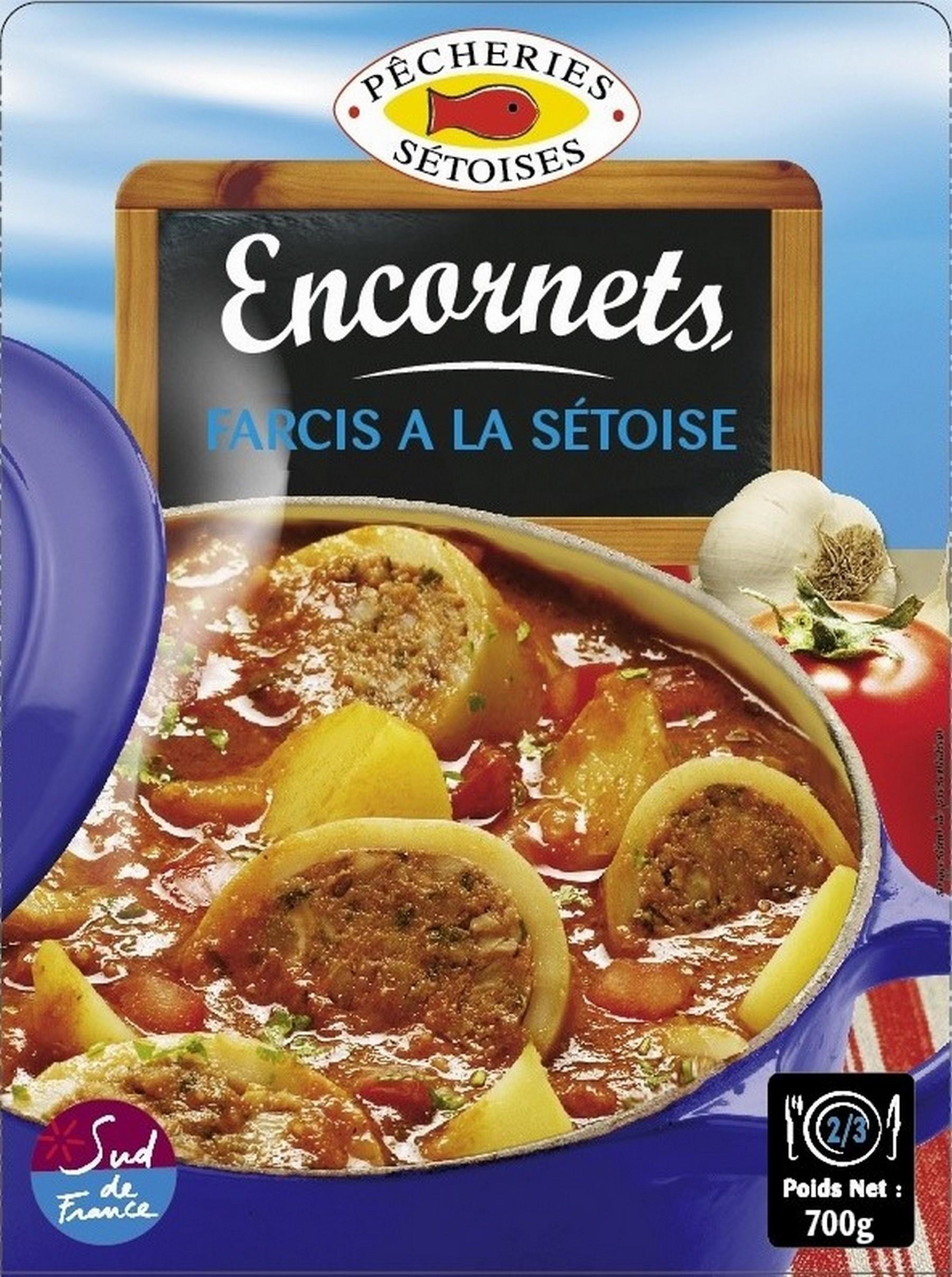 Encornets farcis à la Sétoise, Pêcherie Sétoise (700 g)