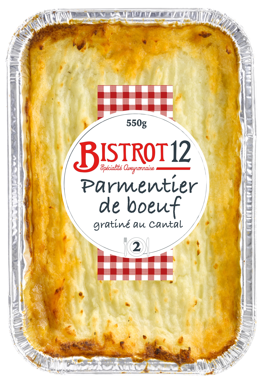 Parmentier de Bœuf gratinées au Cantal, Bistrot12 (550 g)
