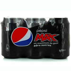 Pepsi Max sans sucre (6 x 33 cl)