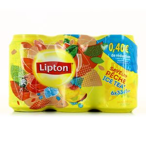 Ice tea pêche Lipton (6 x 33 cl)