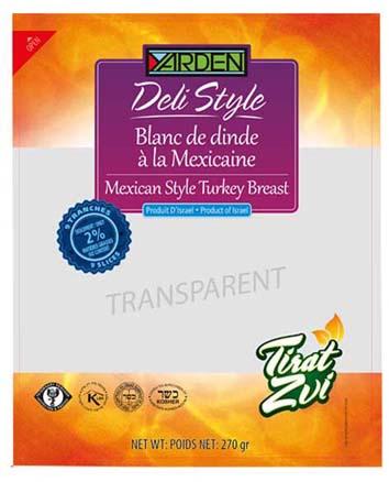 Blanc de dinde à la mexicaine déli style, Yarden (270 g)
