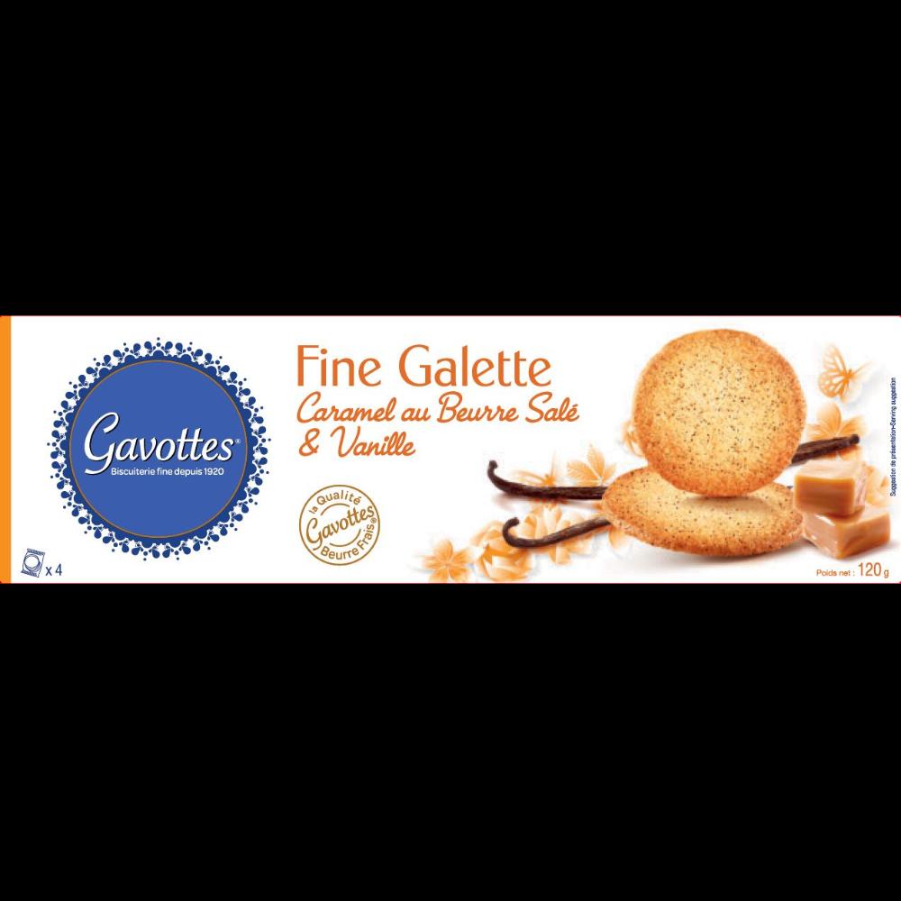 Fine galette au caramel au beurre salé et vanille, Gavottes (120 g)