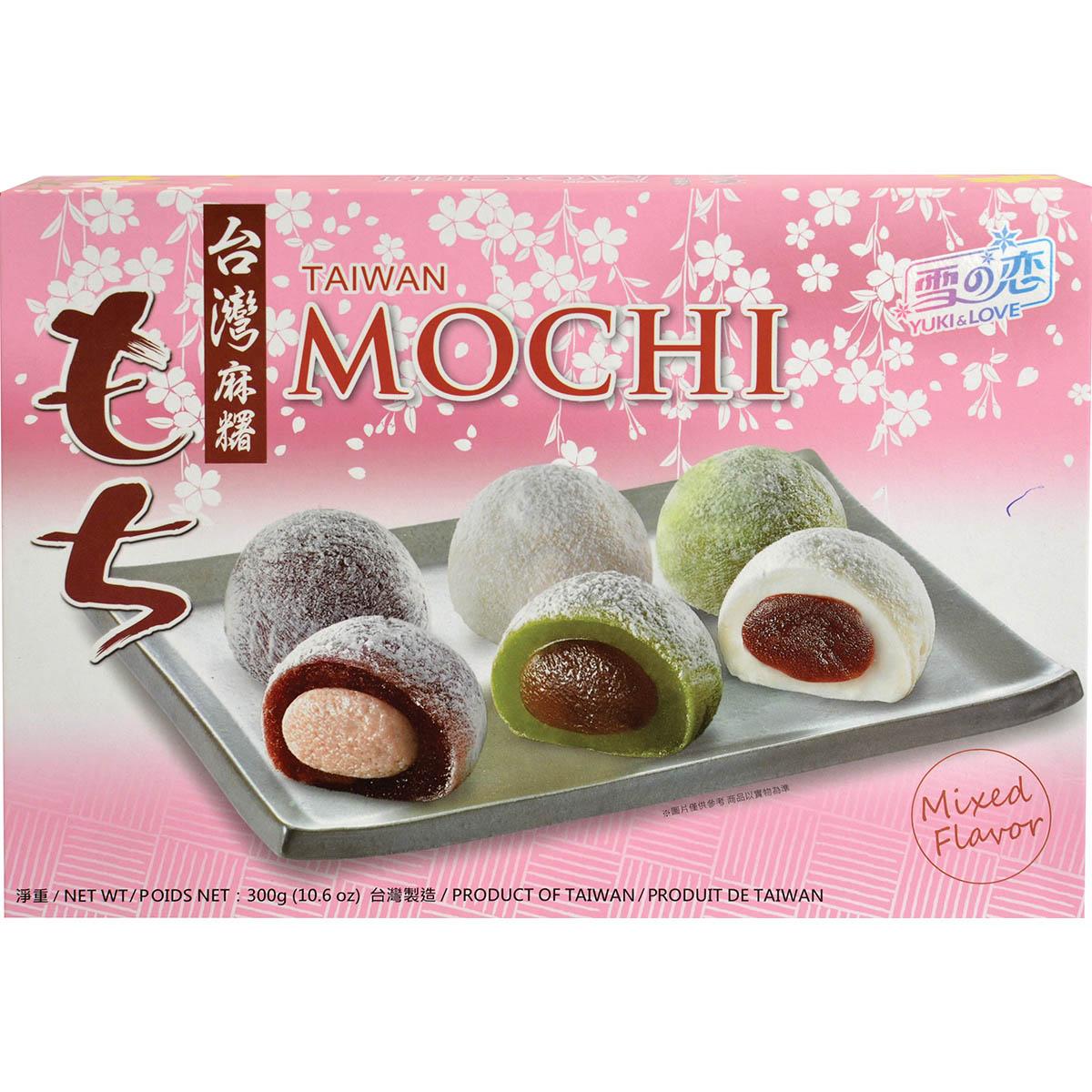 Mochi assortiment (thé vert, haricot rouge, taro), Yuki&Love (300 g)
