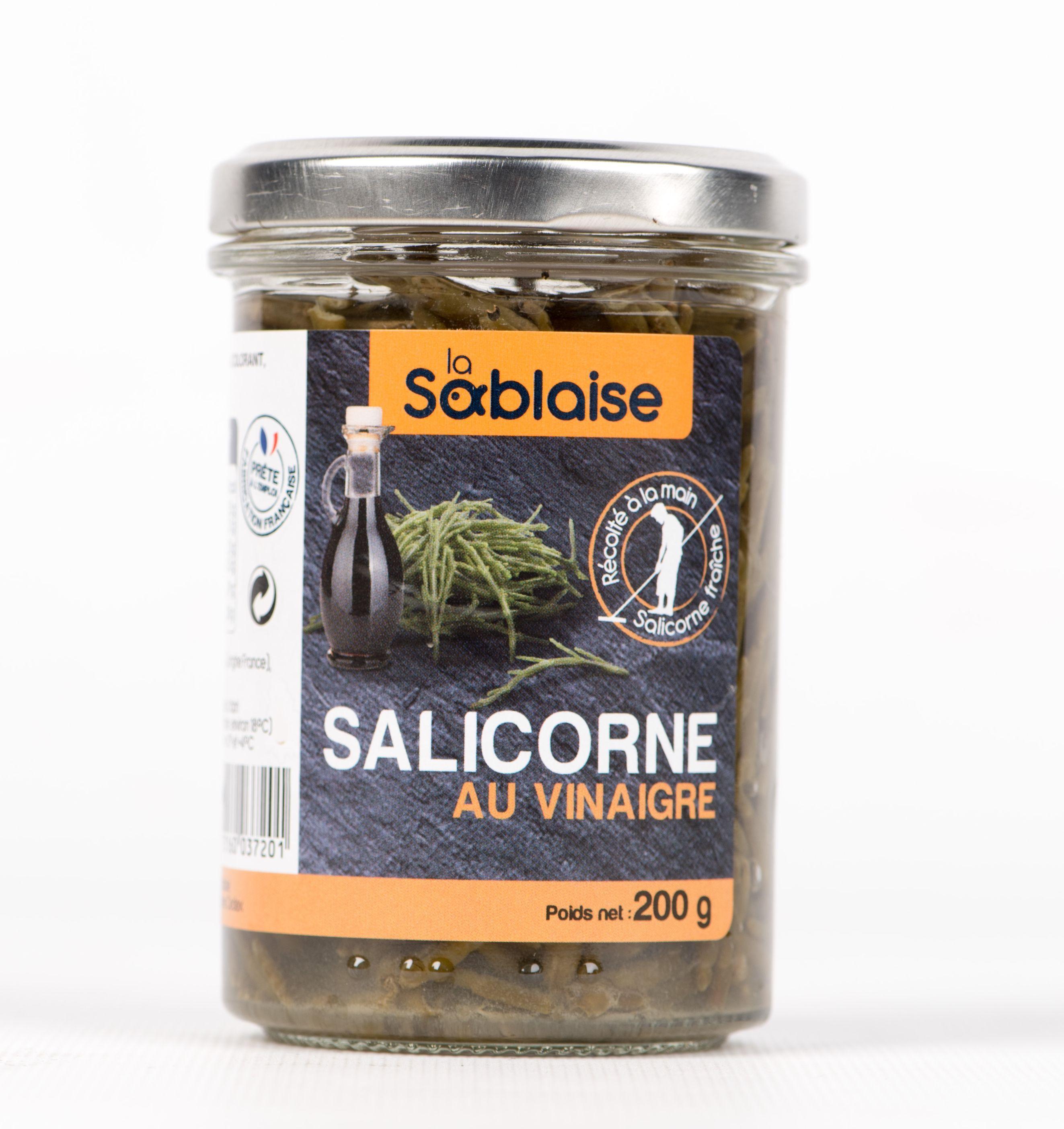 Salicornes au vinaigre, La Sablaise (200 g)