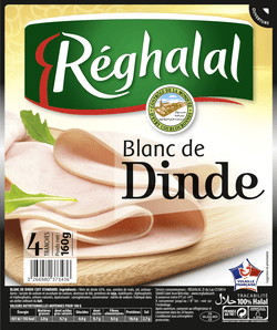 Blanc de dinde Halal, Reghalal (4 tranches, 160 g)