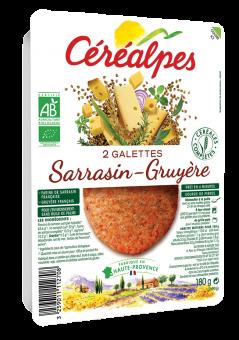 Galettes de céréales sarrasin et gruyère BIO, Céréalpes (x 2, 180 g)