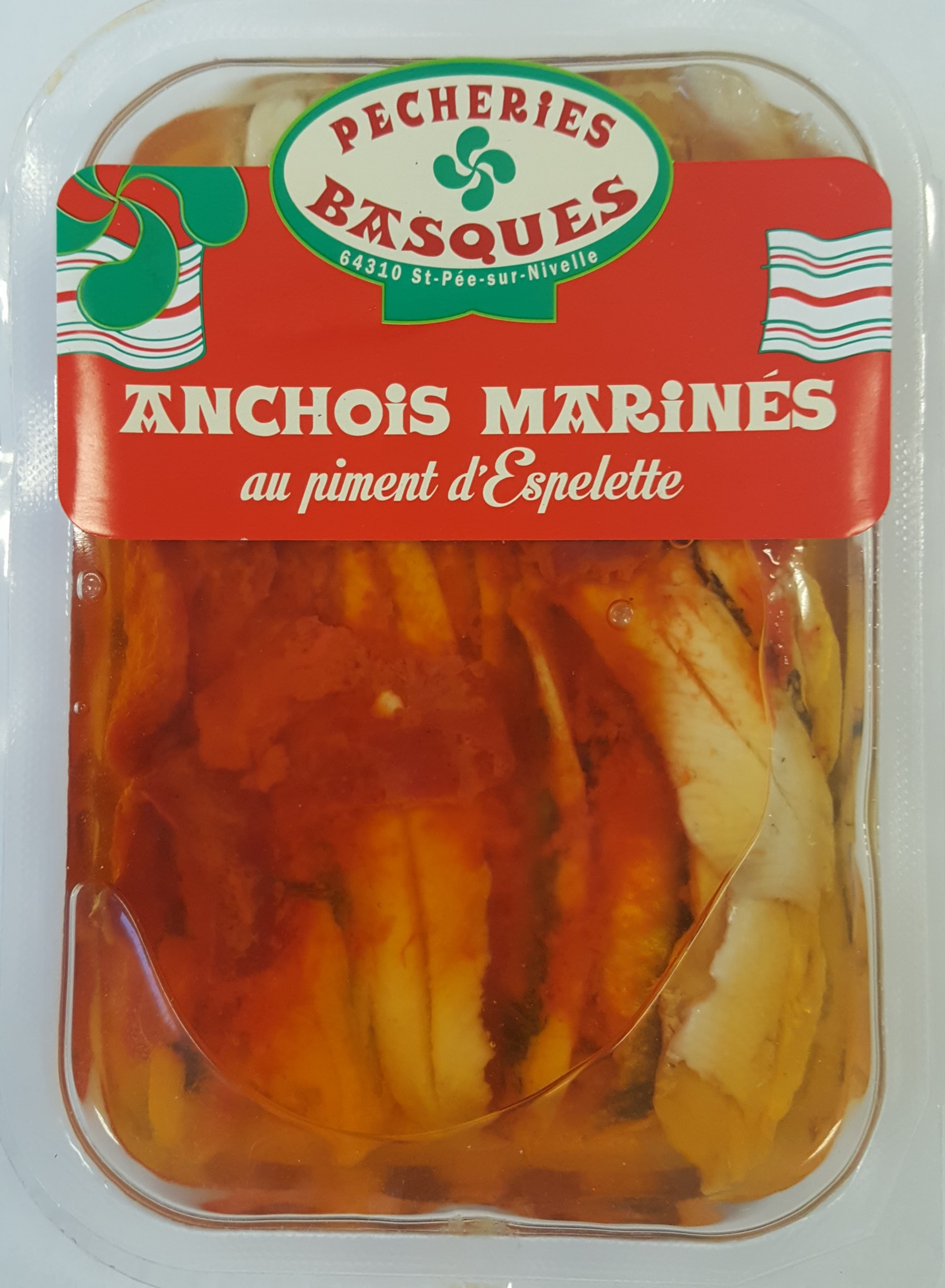 Anchois au Piment d'Espelette, Pêcheries Basques (200 g)