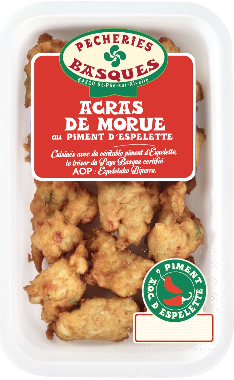 Acras de Morue au Piment d'Espelette, Pêcheries Basques (200 g)