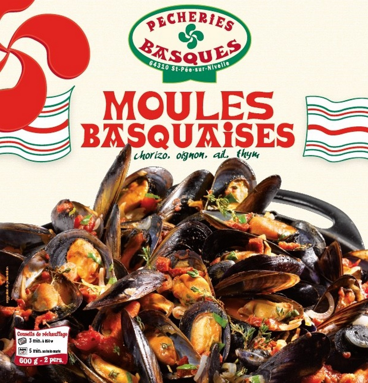Moules Basquaises, Pêcheries Basques (600 g)