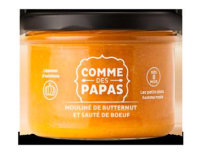 Mouliné de butternut et boeuf - 8 mois, Comme des Papas (180 g)