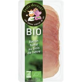 Bacon fumé au bois de hêtre BIO, Frais Devant (80 g)
