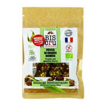 Pépites de graines germées mélange Méditerranée BIO, Biscru (100 g)